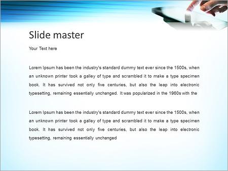 Шаблон PowerPoint Смартфон фаблет - Второй слайд