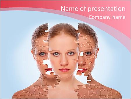 Шаблон презентации Лечение и уход за кожей - Титульный слайд
