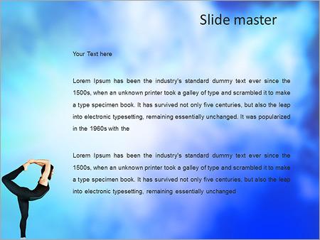 Шаблон PowerPoint Девушка занимается йогой - Второй слайд