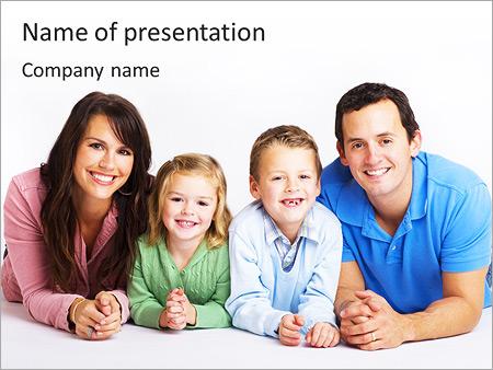 Шаблон презентации Счастливая семья - Титульный слайд