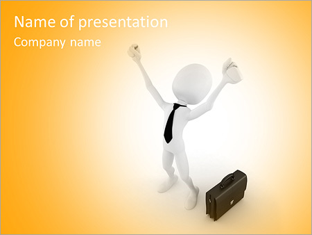 Шаблон презентации Успех в бизнесе - Титульный слайд