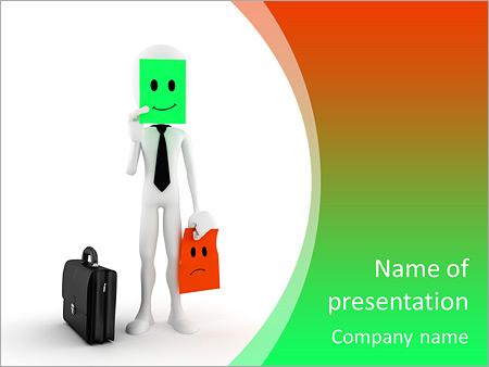 Шаблон презентации Бизнесмен меняет настроение - Титульный слайд