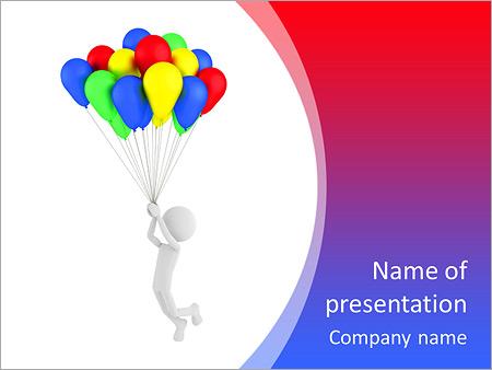 Шаблон презентации Человек на воздушных шарах - Титульный слайд