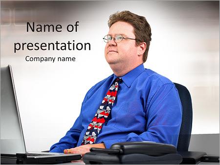 Шаблон презентации Бизнесмен смотрит в будущее - Титульный слайд