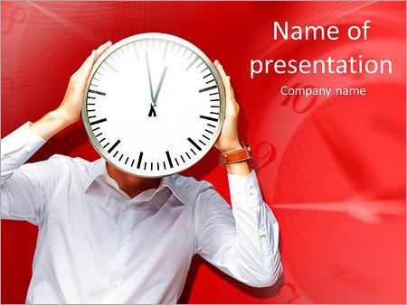 Шаблон презентации Человек часы - Титульный слайд