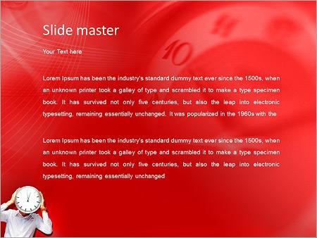 Шаблон PowerPoint Человек часы - Второй слайд