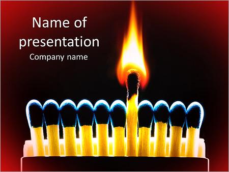 Шаблон презентации Горящая спичка - Титульный слайд