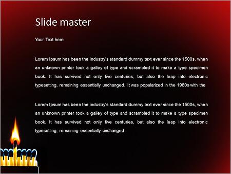 Шаблон PowerPoint Горящая спичка - Второй слайд