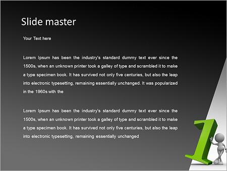 Шаблон PowerPoint Бизнесмен лидер - Второй слайд