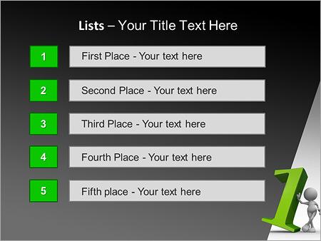 Шаблон для презентации Бизнесмен лидер - Третий слайд