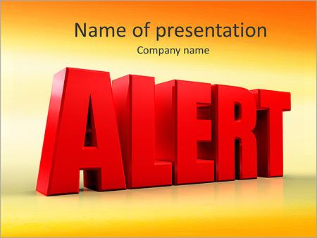 Шаблон презентации Оповещение опасность - Титульный слайд