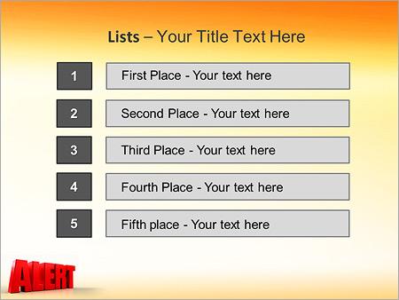 Шаблон для презентации Оповещение опасность - Третий слайд