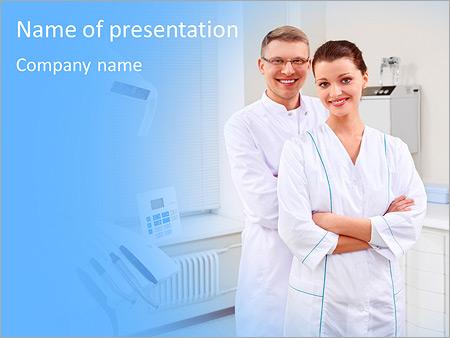 Шаблон презентации Стоматологи в клинике - Титульный слайд