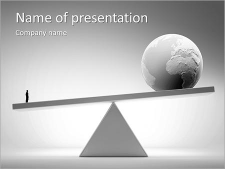 Шаблон презентации Бизнесмен против всего мира - Титульный слайд