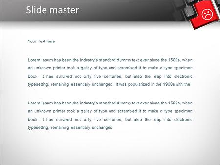 Шаблон PowerPoint Кнопка грустный смайл - Второй слайд