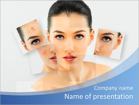 Шаблон презентации Борьба с прыщами и проблемной кожей лица - Титульный слайд