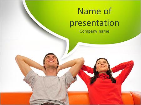 Шаблон презентации Счастливая пара - Титульный слайд