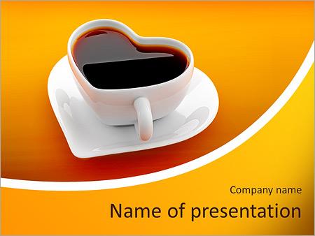 Шаблон презентации Чашка для любителей кофе - Титульный слайд