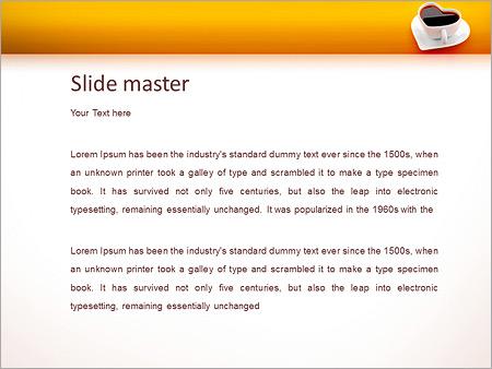 Шаблон PowerPoint Чашка для любителей кофе - Второй слайд
