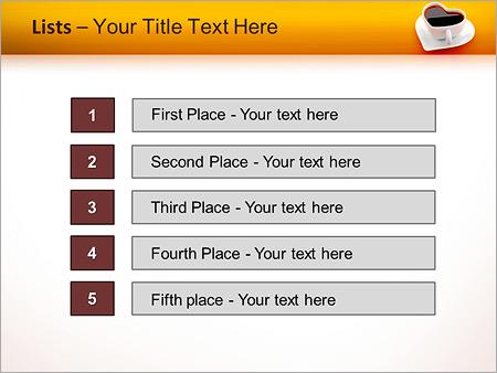 Шаблон для презентации Чашка для любителей кофе - Третий слайд