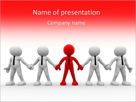 Шаблон презентации Бизнес команда с лидером - Титульный слайд