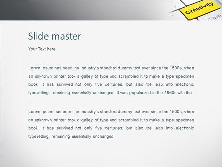 Шаблон PowerPoint Кнопка креатив на клавиатуре - Второй слайд