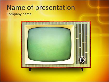 Шаблон презентации Старый телевизор - Титульный слайд