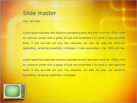 Шаблон PowerPoint Старый телевизор - Второй слайд