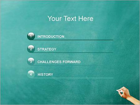 Шаблон для презентации Запись мелом на доске - Третий слайд