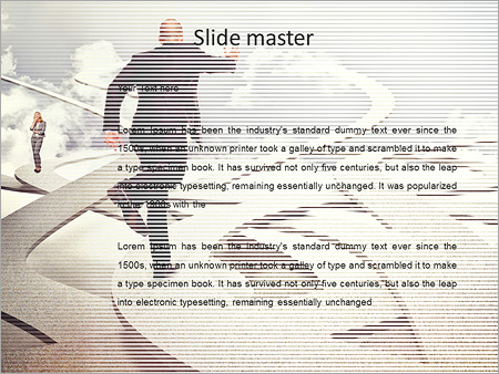 Шаблон PowerPoint Бизнесмен бежит вперед - Второй слайд