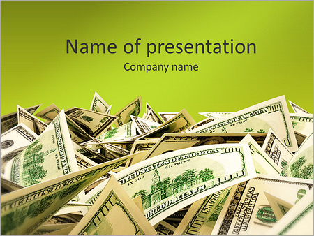 Шаблон презентации Куча денег (доллары) - Титульный слайд