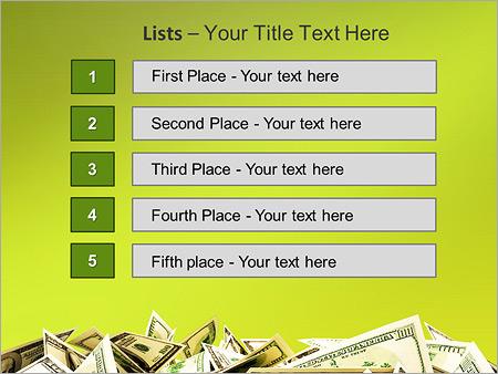 Шаблон для презентации Куча денег (доллары) - Третий слайд