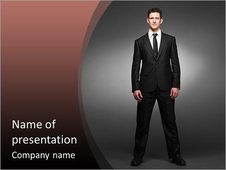Шаблон презентации Мужчина в костюме - Титульный слайд