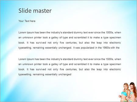 Шаблон PowerPoint Женщины и крем для загара - Второй слайд
