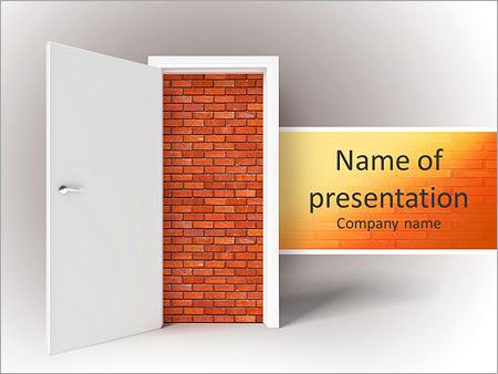 Шаблон презентации Кирпичная стена за дверью - Титульный слайд