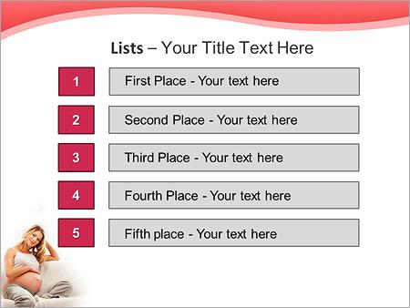 Шаблон для презентации Молодая беременная девушка на диване - Третий слайд