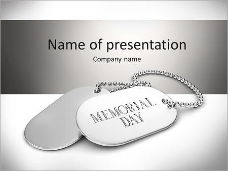 Шаблон презентации Металлические жетоны на шею - Титульный слайд