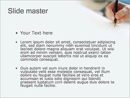Шаблон PowerPoint Учет налогов - Второй слайд