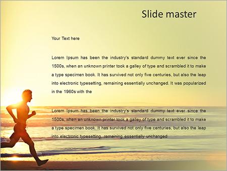 Шаблон PowerPoint Утренняя пробежка по пляжу - Второй слайд