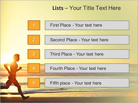 Шаблон для презентации Утренняя пробежка по пляжу - Третий слайд