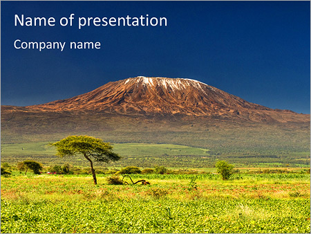 Шаблон презентации Гора Килиманджаро - Титульный слайд