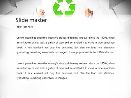 Шаблон PowerPoint Экологическая переработка - Второй слайд