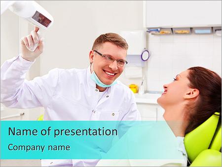 Шаблон презентации Пациент на приеме у стоматолога - Титульный слайд