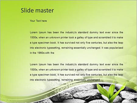 Шаблон PowerPoint Росток пробивается через камни - Второй слайд
