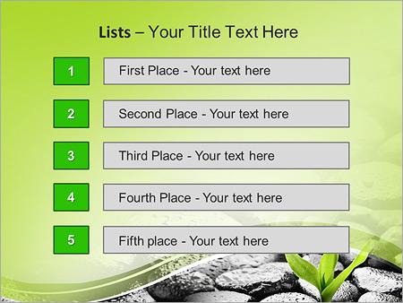 Шаблон для презентации Росток пробивается через камни - Третий слайд