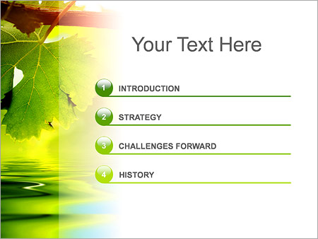 Шаблон для презентации Осенние листья - Третий слайд