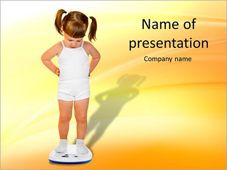 Шаблон презентации Взвешивание ребенка - Титульный слайд