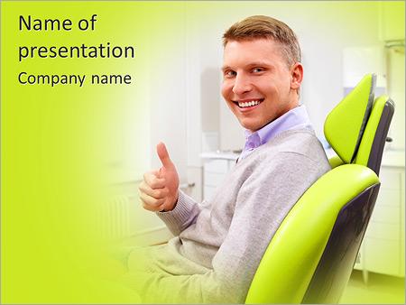 Шаблон презентации Довольный пациент в стоматологической клинике - Титульный слайд