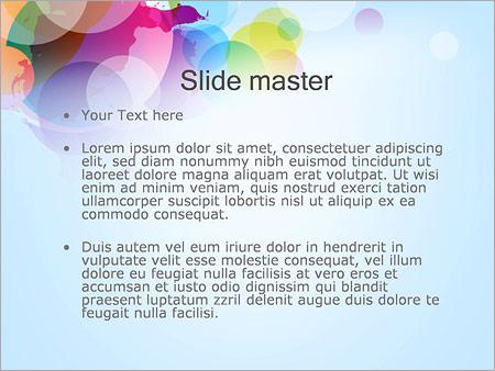 Шаблон PowerPoint Разноцветные круги - Второй слайд