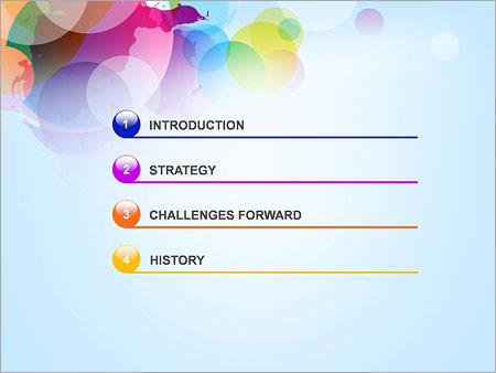 Шаблон для презентации Разноцветные круги - Третий слайд